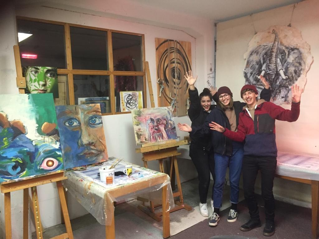 Kunst-Feier im Atelier